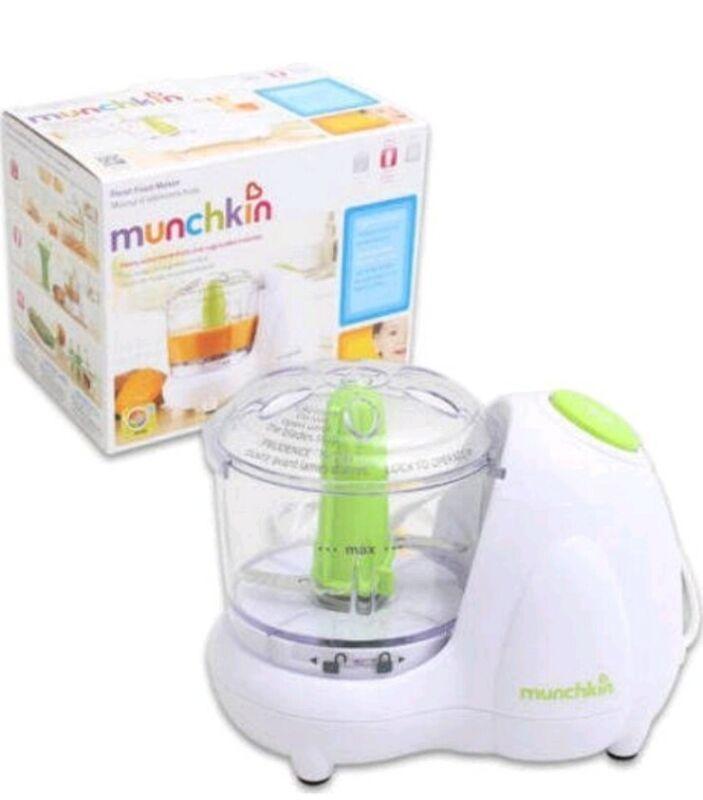 Lot Munchkin Baby Food Maker Processor Chopper Steamer and Blender/Grinder Combo