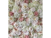 Hire a beautiful flower wall for your Norfolk wedding