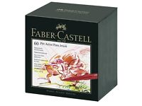 Faber castell artist pens - 60 brand new in bed unused