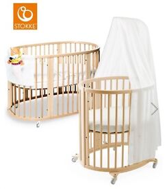 Stokke Sleepi crib / cot / cot bed - natural. Immaculate condition.