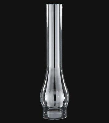 """3"""" X 14"""" TALL CLEAR GLASS OIL LAMP CHIMNEY FITS #2 BURNERS 3"""" GALLERIES 57972JB"""