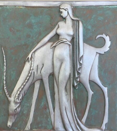 "16"" X 20"" Art Deco Nude Canvas Print - The Greek Goddess Artemis - Machine Age"