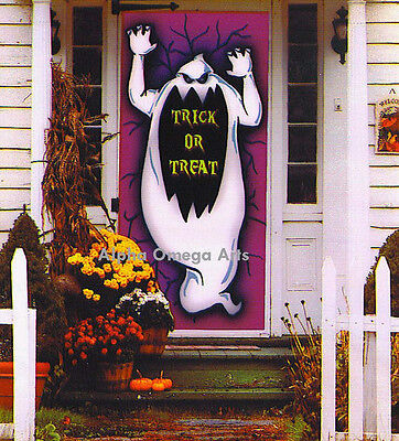 6-Ft. Ghost Silhouette Wall Door Table Cover Trick or Treat Halloween Decor