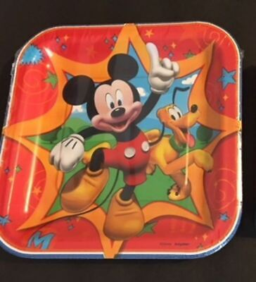 - DISNEY MICKEY MOUSE birthday party dessert paper plates 8ct No PayPal