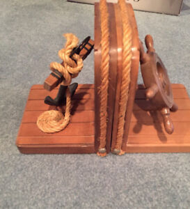 Pirates of the Caribbean Bookends ship wheel and anchor