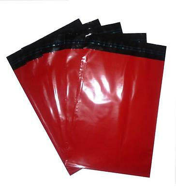 20x RED Plastic poly postal post Mailing Bags 250 x 350 mm 10 x 14 10x14 250x350