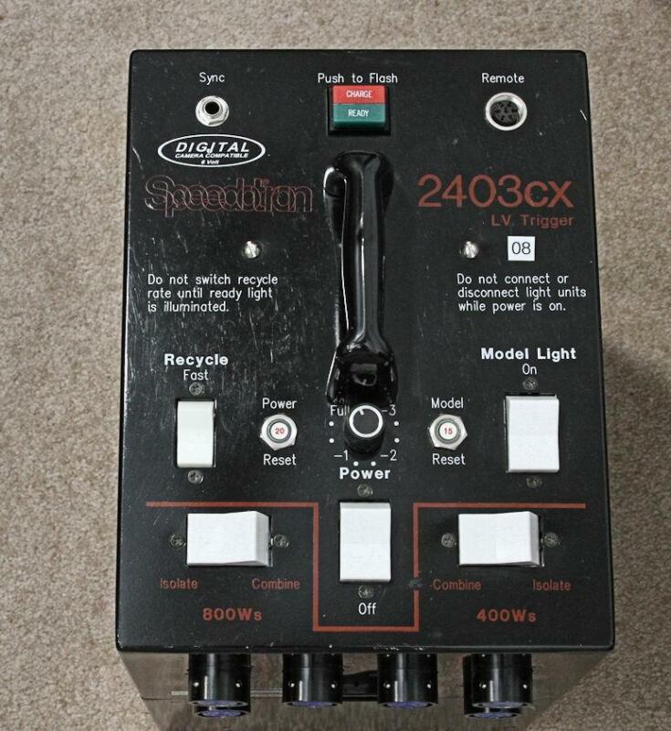 SPEEDOTRON 2403cx BLACKLINE STUDIO FLASH POWER SUPPLY/PACK  2403 CX