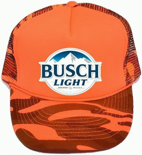Busch Latte Beer Trucker Hat BUSCH HUNTING GUN Bud Budweiser Light Redneck CAMO