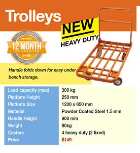 Trolley Steel Load Capacity 300 Kg Banyo Brisbane North East Preview