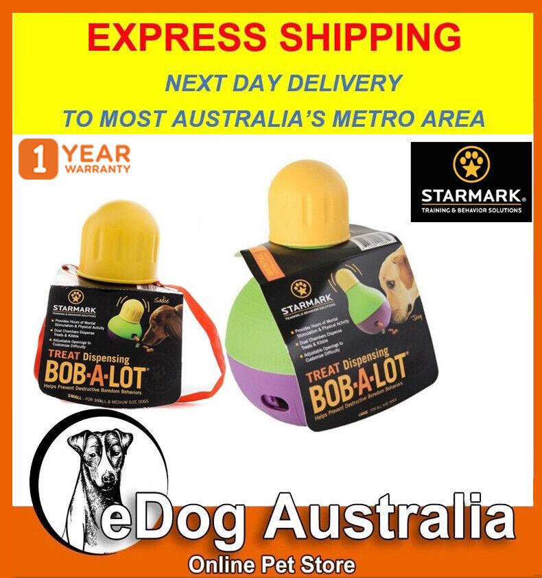 Starmark Treat Dispensing Wobbling Bob-a-Lot Dog Chewing Int