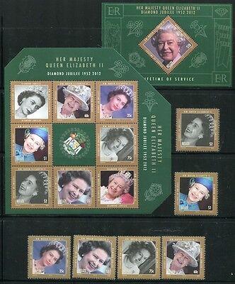 Belize 2012 Königin Elisabeth Thronjubiläum QE II  Royalty Kpl. Postfrisch MNH