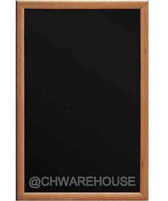 Magnetic Black Chalk Board24x36 Light Tone Frame W Metal Reinforced Backing