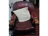 Leather 3 piece suite - ready to go now !