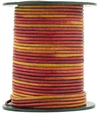 Xsotica® Gypsy Irasa Natural Dye Round Leather Cord 1.0mm 10 meters (11 yards) ()