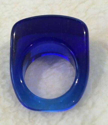 Lucite Blue Translucent Ring Size 6