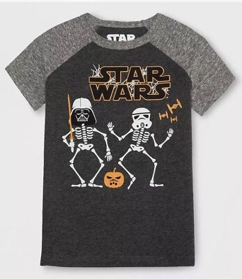 NWT TODDLER BOY STAR WARS GLOW IN THE DARK HALLOWEEN  SHIRT SIZE 5T](Toddler Boy Halloween T Shirts)