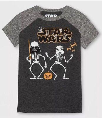 Halloween Toddler Shirts (NWT TODDLER BOY STAR WARS GLOW IN THE DARK HALLOWEEN  SHIRT SIZE)
