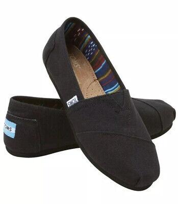 Toms Women's Classic Black On Black Slip On Shoes New (Toms Women Black)