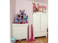 Baby wardrobe & chest of drawers