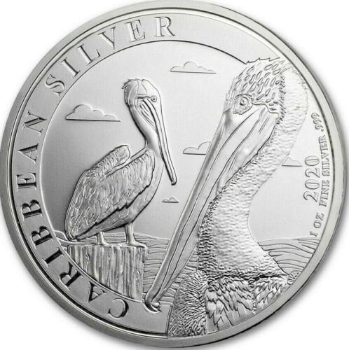 2020 Barbados 1 Oz Silver Caribbean Pelican B/U MUST SEE! SOLD OUT AT THE MINT