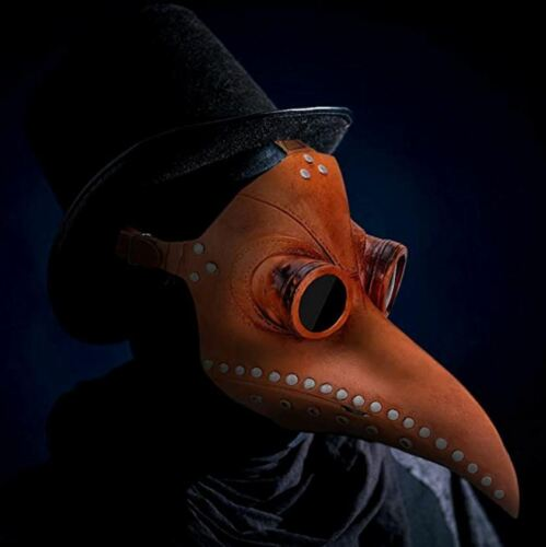 Halloween Plague Doctor Mask for Cosplay Party Props (Brown)