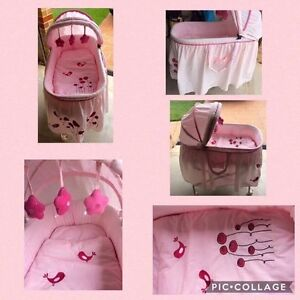 Pink baby bassinet Oxenford Gold Coast North Preview