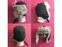 New Superdry Trapper Hat In Black - one size Still has tags