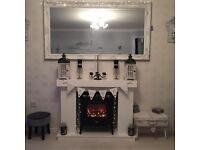 Bespoke Fire Surround With Hearth & Brick Effect Back Panel