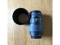 Canon Sigma 70-300mm, f4-5.6, AF Macro Zoom