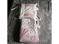 Handmade Patchwork Cot Duvet & Bumper