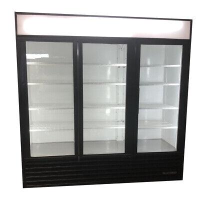 True Gdm-72 3-door Refrigerator Swing 3 Door Glass Front Cooler Refrigerator