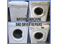Washing machine and dryer repairs carried out