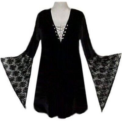 Sexy Lace-up Shirt Witch Gothic Costume Reg & - Plus Size T Shirt Kostüme