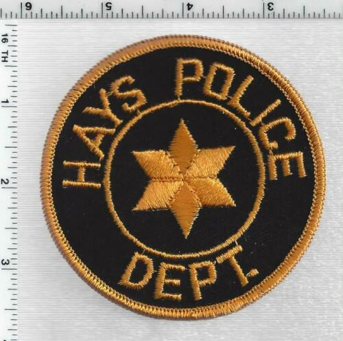 Hays Police (Kansas) 1st Issue Shoulder Patch