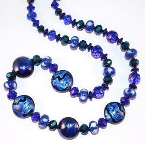 Bristol Blue Glass Necklace
