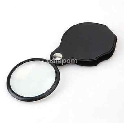 Mini Magnifying Glass (Small Folding MAGNIFIER GLASS POCKET SIZE Optical Magnifying Lens Mini Eye)