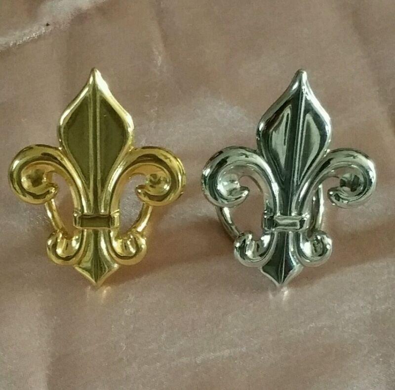 Flore Di Li Scarf slides 1 Silvertone 1 Goldtone