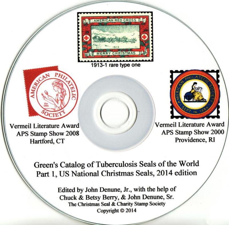 Green's Catalog,TB Seals, Part 1, U.S. National Christmas Seals, 2014 ed., CD