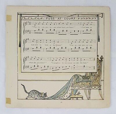 Antique 1877 Book Three Blind Mice Baby Music Nursery Rhyme Edmund Evans Crane