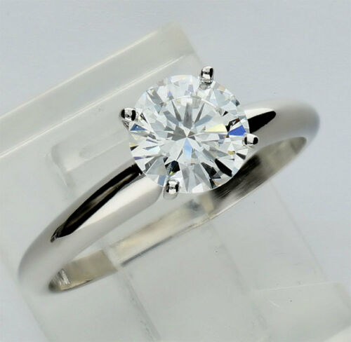 Gia Platinum Diamond Solitaire Engagement Ring Vg/vg/vg G Round Brilliant 1.01ct