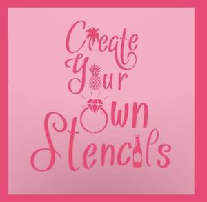 Create Your Own Stencil - Custom Stencil - Reusable Stencil - DIY Stencil - Walls - Quilting - Furniture Stencil