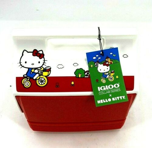 Hello Kitty Igloo Cooler Classic Playmate Mini 4qt Limited Edition in Red NWT