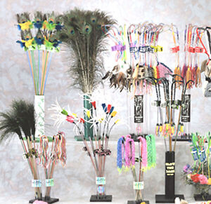 Vee cat feather leather or tassel teaser toy wands ebay for Jackson galaxy mojo maker air wand