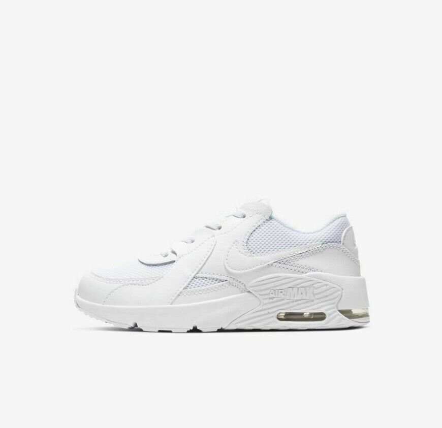 Nike Air Max Excee (PS) CD6892-100 Triple White Little Kid's Running Shoes NEW!