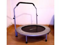 PRO FITNESS EXERCISE TRAMPOLINE IN BLACK/SILVER