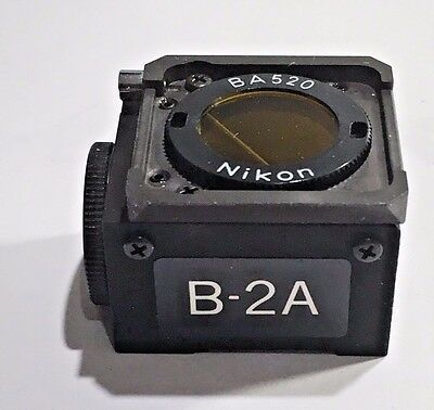 Nikon B2a Ftic Fluor. Filter Block 18mm For Labophotoptiphottmd Microscopes