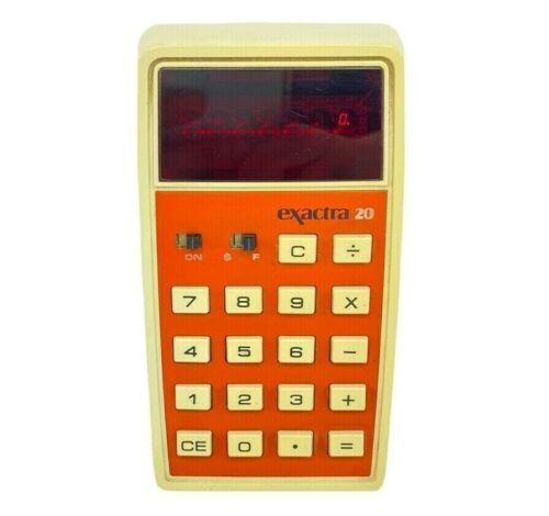 Vtg Texas Instruments Exactra 20 Ex-20 Electronic Calculator Tested No Batt Door