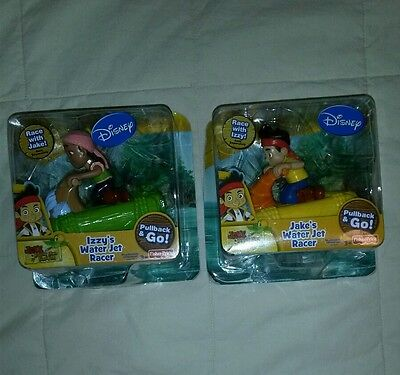 NIB Lot of 2 Jake and the Never Land Pirates toys- Izzy's Jake's Water Jet Racer (Jake And The Never Land Pirates Izzy)
