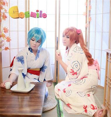 Evangelion EVA Ayanami Rei Soryu Asuka Langley Cosplay Yukata Kimono Costume (Asuka Soryu Langley Kostüm)