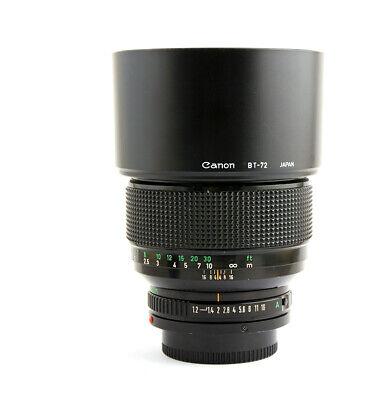 Canon FD 85mm F1.2L Lens Exc+